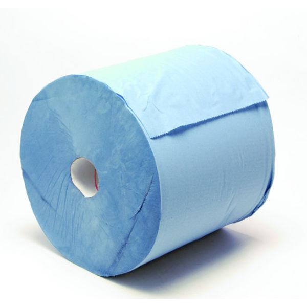 Picture of 2 ply wiper roll 1000sh width 30cm 370mtr Blue