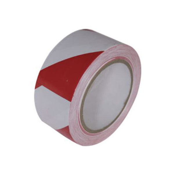 Picture of Barrier tape red-white 50mm self adhesive 33Mtr