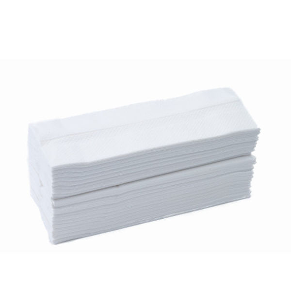 Picture of Embossed C-fold towel white, 2 ply, deluxe White