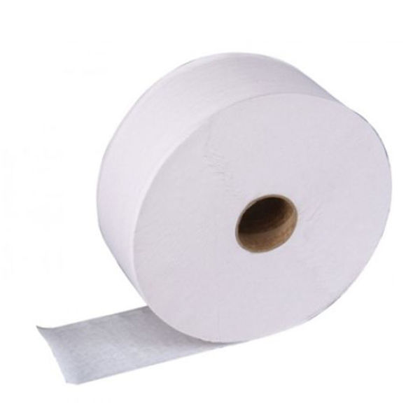 Picture of 2 ply jumbo toilet rolls 300m 3 inch core White