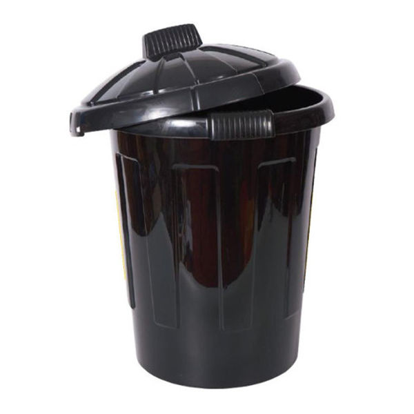 Picture of Dustbin Black 80L with lid