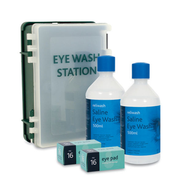 Picture of Enclosed eyewash cabinet c-w 2 x 500ml eyewash
