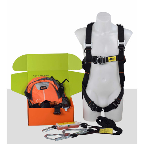 Picture of Scfold Kit 8E-Dbl Point Elastic Harness+El Lanyard