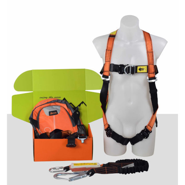 Picture of ARESTA Kit6 - Double Point Harness,elastic Lanyard