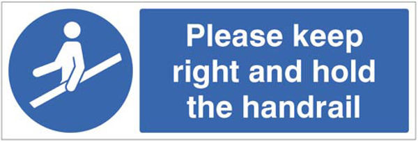 Picture of Please keep right and hold the handrail