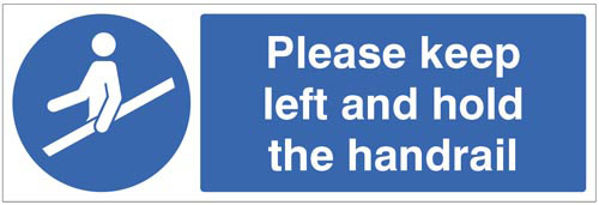 Picture of Please keep left and hold the handrail